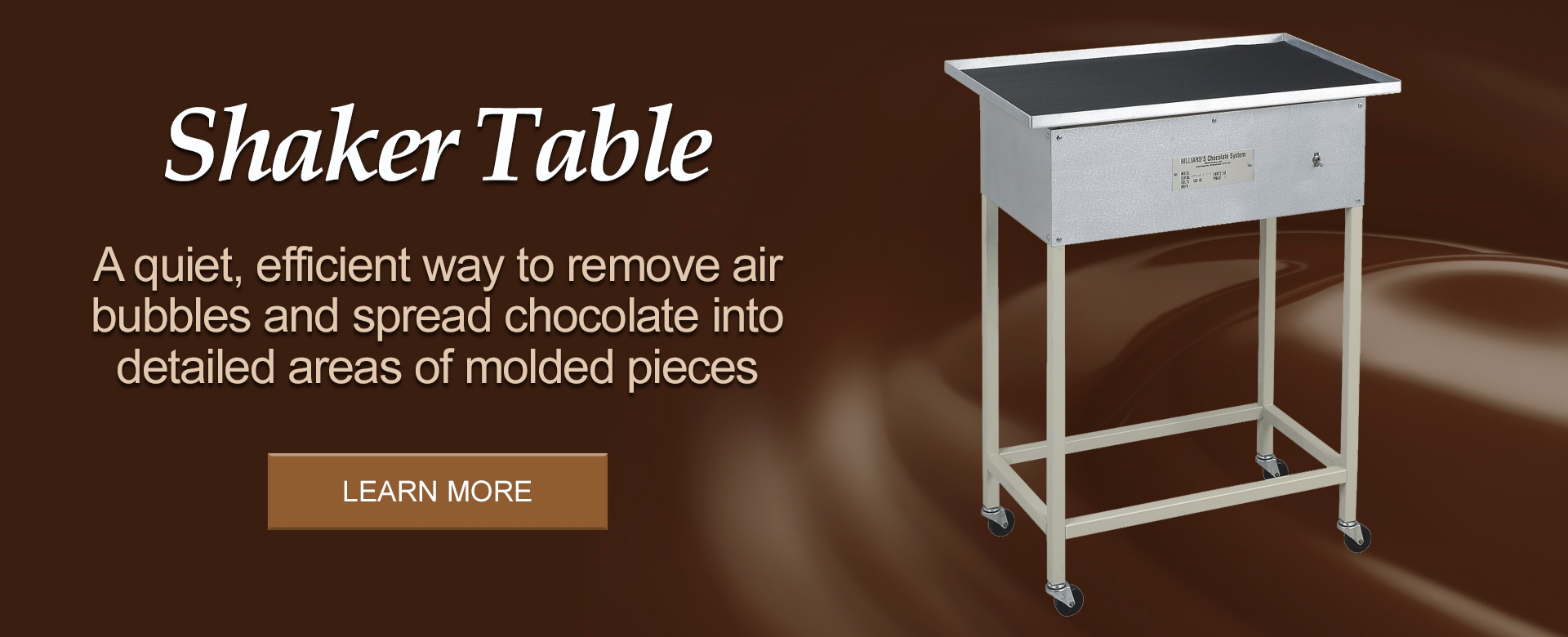 Hilliards Chocolate Shaker Table